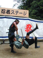 忍者ショー 写真